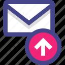 email, envelope, message, send, sent icon