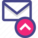 email, envelope, message, sending, sent icon