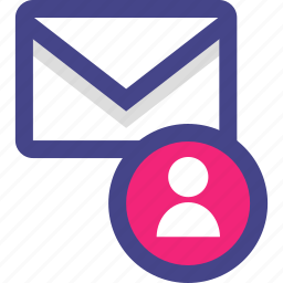 email, message, profile, user icon