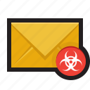 email, junk, malicious, malware, spam, virus icon