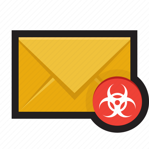 email junk malicious malware spam virus icon