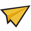 email, mail, outbox, paper plane, plane, send, sent icon