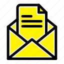 mail, office, pencil, text