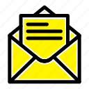 email, mail, message, text icon