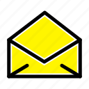 email, mail, message, open