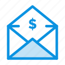 dollar, mail, money, order icon