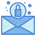 document, file, locked, security icon