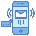 email, message, phone, smartphone, technology icon