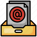 at, inbox, communications, message, email