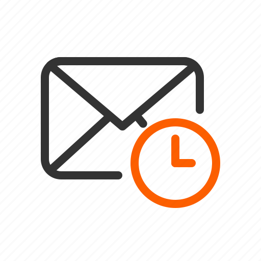 Email, letter, mail, reminder, time icon - Download on Iconfinder