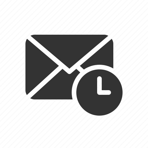 email, letter, mail, reminder, time icon
