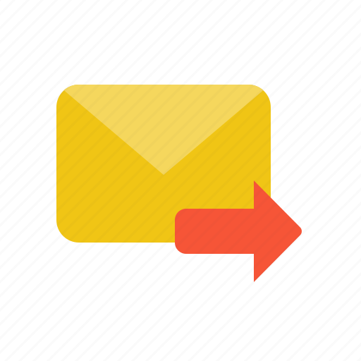 email, forward, letter, mail, send icon