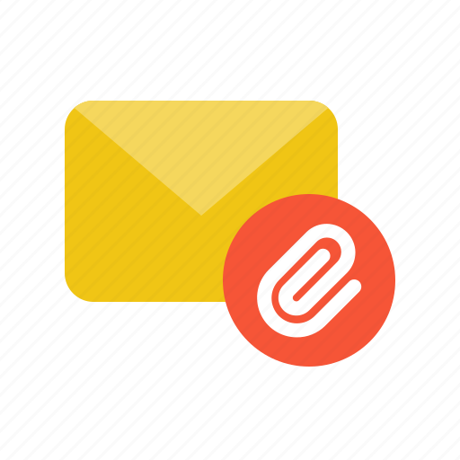 Attach, attachment, email, letter, mail icon - Download on Iconfinder