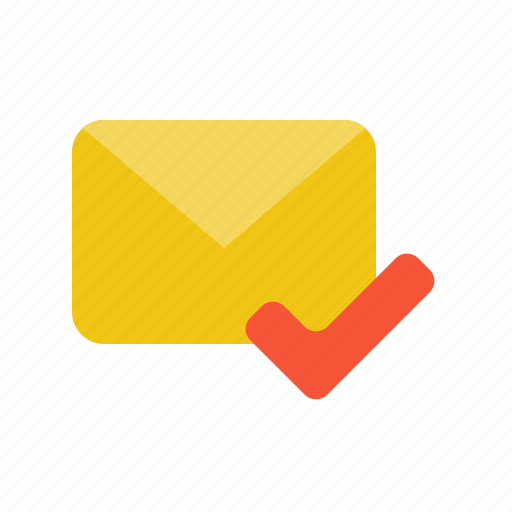 Correct, email, letter, mail, read, send icon - Download on Iconfinder