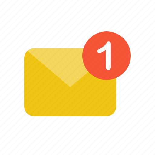 email, letter, mail, unread icon
