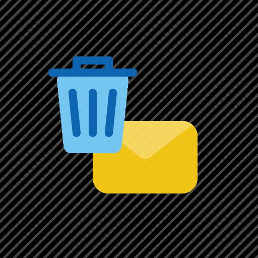 delete, email, letter, mail, remove icon