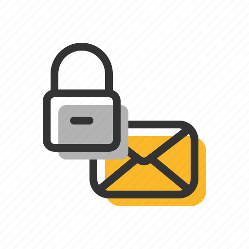 email, letter, lock, mail icon