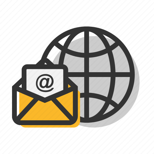 email, letter, mail, network, public, www icon