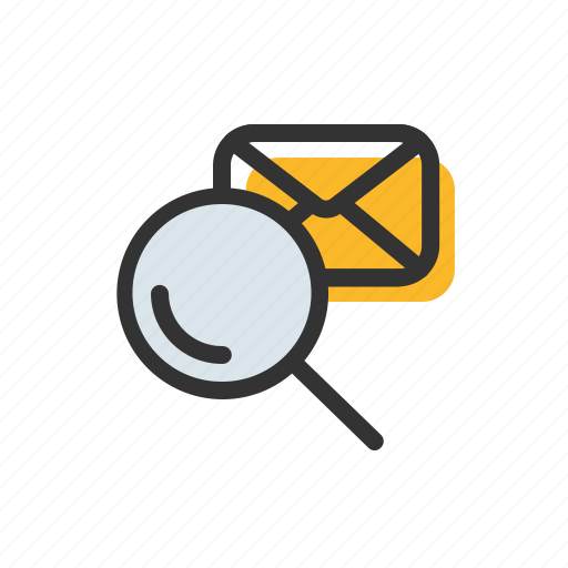 email, find, letter, mail, search icon