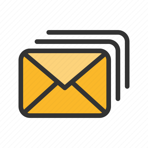 email, letter, mail, multiple icon