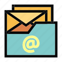 archive, communication, email, mail, message icon