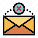 communication, email, failed, mail, message icon