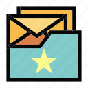 communication, email, favorite, mail, message icon