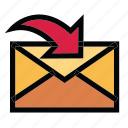 communication, email, inbox, mail, message icon