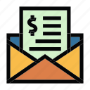 communication, email, invoice, mail, message icon