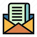 communication, email, mail, message, newsletter icon