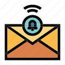 communication, email, mail, message, notification icon