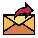 communication, email, mail, message, outbox icon