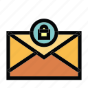 communication, email, mail, message, secure icon