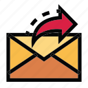 communication, email, mail, message, sending icon