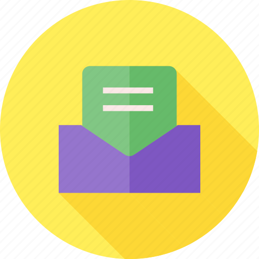 address, communication, envelope, letter, mail, post, postcard icon
