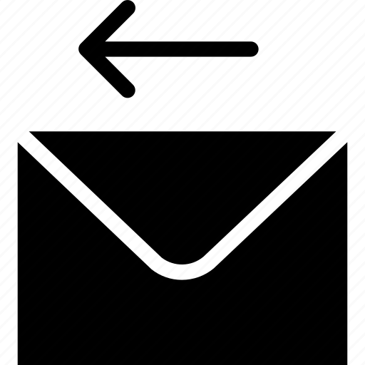 arrow, communication, email, envelope, mail icon