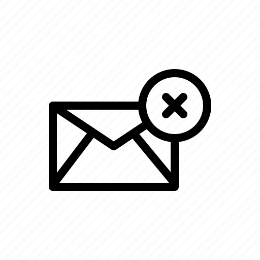 clear, delete, discard, email, mail, message icon