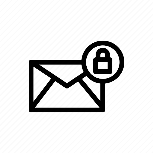 email, encrypted, encryption, mail, message icon