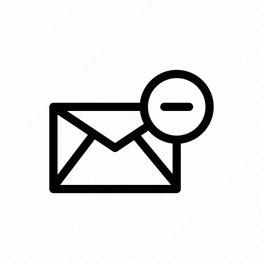 delete, discard, email, mail, remove icon