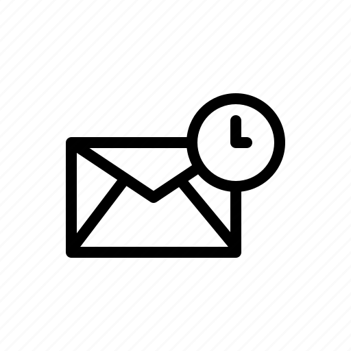 email, envelop, letter, mail, schedule, time, timer icon
