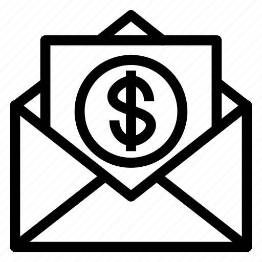 coin, contact, email, envelope, letter, mail, message icon