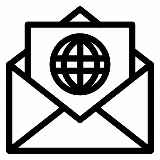 Contact, email, envelope, globe, letter, mail, message icon - Download on Iconfinder