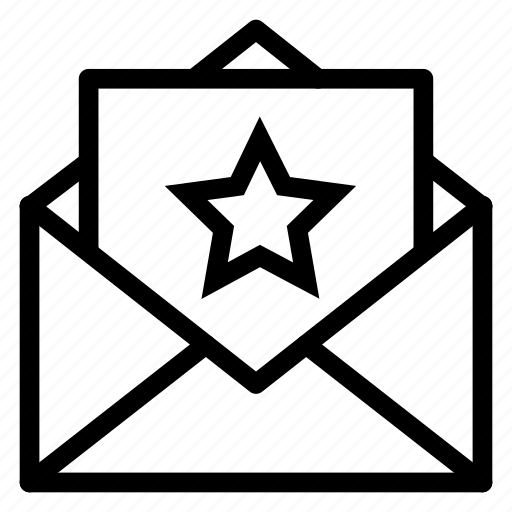 Contact, email, envelope, letter, mail, message, star icon - Download on Iconfinder