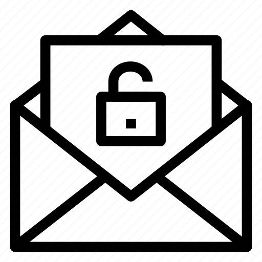 Contact, email, envelope, letter, mail, message, unlock icon - Download on Iconfinder
