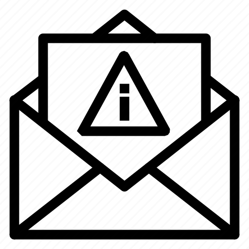 contact, email, envelope, error, letter, mail, message icon