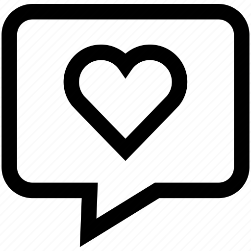 chat bubble, conversation, favorite, hearth, like, speech bubble icon