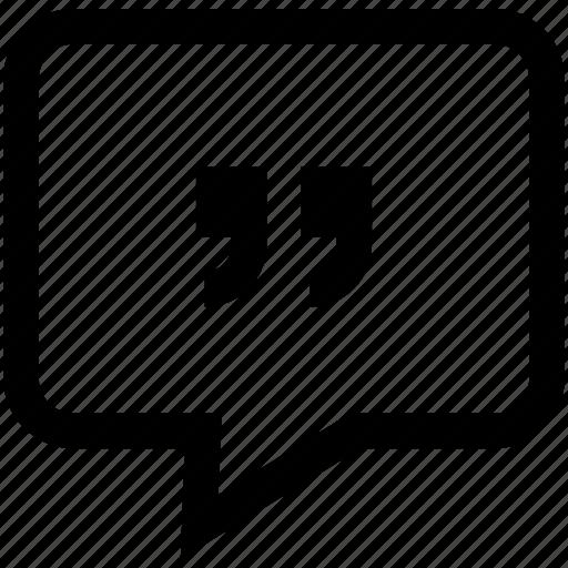 chat bubble, conversation, quotes, speech bubble icon