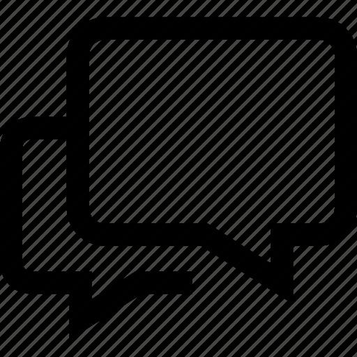 chat bubble, conversation, dialogue, speech bubble icon
