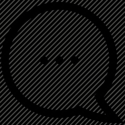 chat bubble, conversation, speech bubble, typing, wait icon