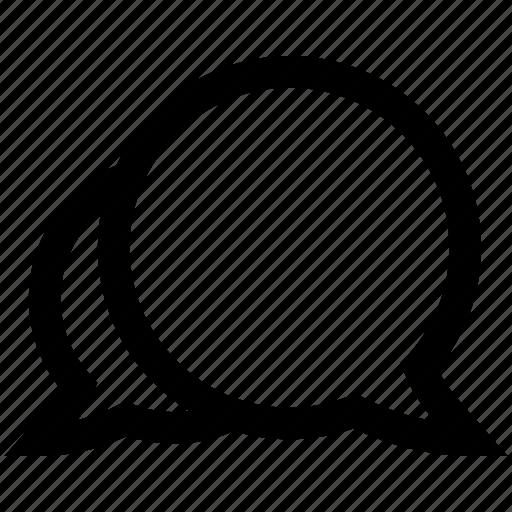 chat bubble, conversation, speech bubble, two icon